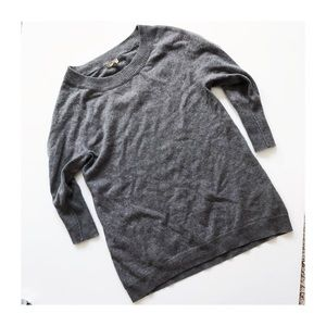 Joie gray wool cashmere blend crewneck sweater S